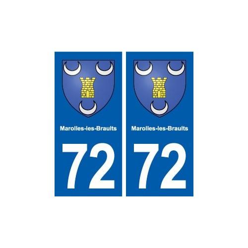 72 Marolles-les-Braults blason autocollant plaque stickers ville