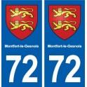 72 Montfort-le-Gesnois blason autocollant plaque stickers ville
