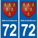 72 Sille-le-Guillaume coat of arms sticker plate stickers city