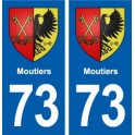 73 Moutiers blason autocollant plaque immatriculation ville