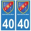 40 Saint-Pierre-du-Mont autocollant plaque blason armoiries stickers département ville