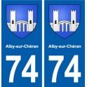 74 Alby-sur-Chéran blason autocollant plaque stickers ville