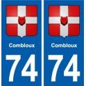 74 Cruseilles blason autocollant plaque stickers ville