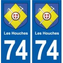 74 Les Houches blason autocollant plaque stickers ville
