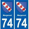 74 Magland coat of arms sticker plate stickers city