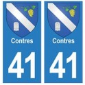 41 Contres autocollant plaque blason armoiries stickers département ville