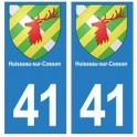 41 Huisseau-sur-Cosson autocollant plaque blason armoiries stickers département ville