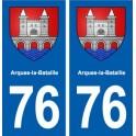 76 Arques-la-Bataille blason autocollant plaque stickers ville