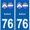 76 Belbeuf coat of arms sticker plate stickers city