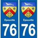76 Épouville coat of arms sticker plate stickers city