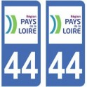 44 Loire-Atlantique autocollant plaque