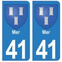 41 Mer autocollant plaque blason armoiries stickers département ville