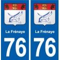76 La Frénaye blason autocollant plaque stickers ville