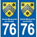 76 Sainte-Marguerite-sur-Duclair blason autocollant plaque stickers ville