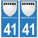 41 Montoire-sur-le-Loir autocollant plaque blason armoiries stickers département ville