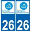26 Drôme autocollant plaque nouveau logo 3 sticker