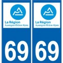 69 Rhône autocollant plaque