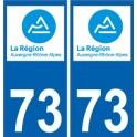 73 Savoie Rhône Alpes nouveau logo autocollant plaque