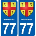 77 Boissise-le-Roi coat of arms sticker plate stickers city