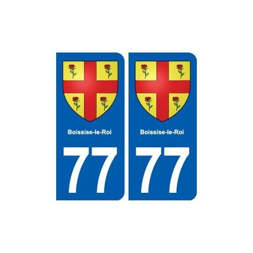 77 boissise le roi blason autocollant plaque immatriculation stickers ville. Black Bedroom Furniture Sets. Home Design Ideas