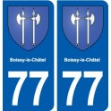 77 Boissy-le-Châtel coat of arms sticker plate stickers city