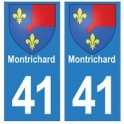 41 MontRichard autocollant plaque blason armoiries stickers département ville