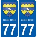 77 Cannes-lock coat of arms sticker plate stickers city