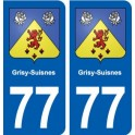 77 Grisy-Suisnes blason autocollant plaque stickers ville