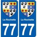 77 La Rochette coat of arms sticker plate stickers city