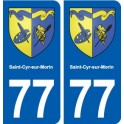 77 Saint-Cyr-sur-Morin coat of arms sticker plate stickers city