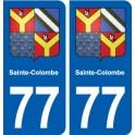 77 Sainte-Colombe blason autocollant plaque stickers ville