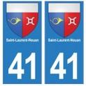 41 Saint-Laurent-Nouan autocollant plaque blason armoiries stickers département ville