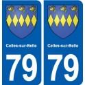 79 Celles-sur-Belle blason autocollant plaque stickers ville