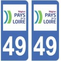 49 Maine et Loire autocollant plaque