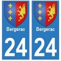 24 Bergerac sticker plate coat of arms coat of arms stickers department