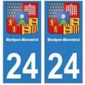 24 Dordogne autocollant plaque blason armoiries stickers département