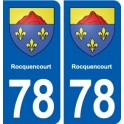 78 Rocquencourt coat of arms sticker plate stickers city