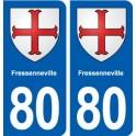 80 Fressenneville blason autocollant plaque stickers ville