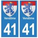 41 Vendôme autocollant plaque blason armoiries stickers département ville
