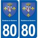 80 Rosières-en-Santerre blason autocollant plaque stickers ville