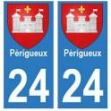 24 Perigueux autocollant plaque blason armoiries stickers département