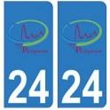 24 Perigueux logo autocollant plaque blason armoiries stickers département
