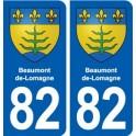 82 Beaumont-de-Lomagne blason autocollant plaque stickers ville