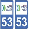 53 Mayenne autocollant plaque