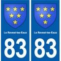 83 The Revest-les-Eaux coat of arms sticker plate stickers city
