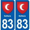 83 Seillans blason autocollant plaque stickers ville