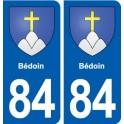 84 Bédoin blason autocollant plaque stickers ville