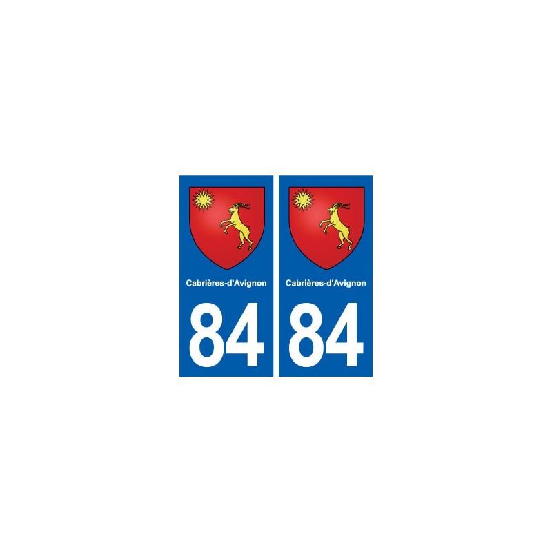 84 cabri res d 39 avignon blason autocollant plaque immatriculation stickers ville. Black Bedroom Furniture Sets. Home Design Ideas