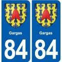 84 Gargas blason autocollant plaque stickers ville