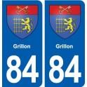 84 Grillon blason autocollant plaque stickers ville
